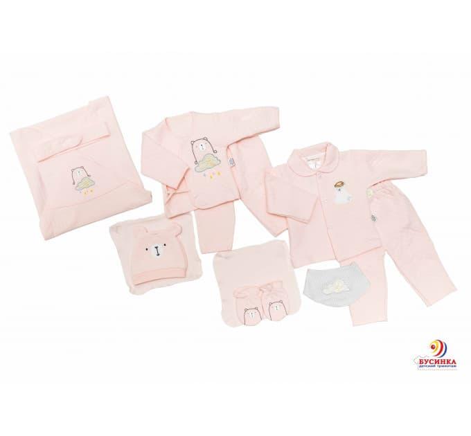 Комплект на выписку №9К (розовый)
