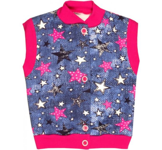 Жилетка 913 (звезды, розовые)