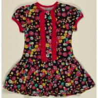 Платье 7006 (цветы на черном)